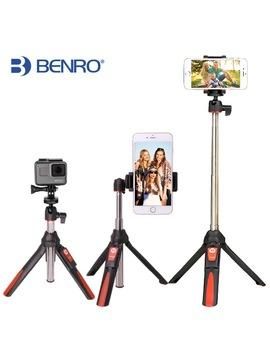 Benro 33inch Handheld Tripod Selfie Stick 3 In 1 Bluetooth Extendable Monopod Selfie Stick Tripod For I Phone 8 Samsung Gopro 4 5 by Benro