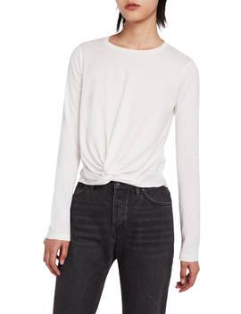 All Saints Carme Long Sleeve T Shirt, Vintage White by All Saints