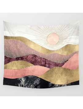Blush Sun Wall Tapestry by