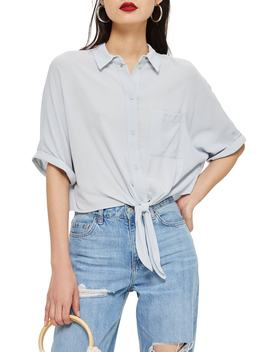 Kyla Knot Short Sleeve Shirt by Topshop