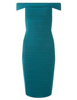 Blue Bardot Bandage Bodycon Dress by Dorothy Perkins