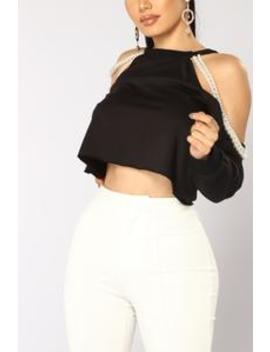 Pearls And More Top   Black by Fashion Nova