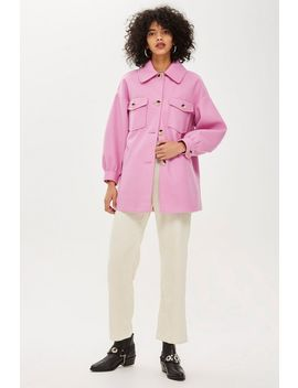 Button Front Shacket by Topshop