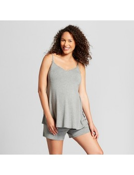 Maternity Nursing Sleepwear Cami And Shorts Pajama Set   Isabel Maternity By Ingrid & Isabel™ Medium Heather Gray by Isabel Maternity By Ingrid & Isabel