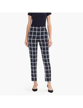 Petite French Girl Slim Crop Pant In Windowpane 365 Crepe by J.Crew