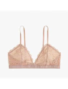 Bralette In Eyelet Lace by J.Crew
