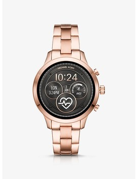Runway Rose Gold Tone Smartwatch by Michael Kors Access