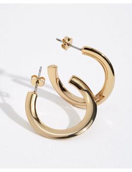 Grecian Wave Hoop Earrings by Jigsaw