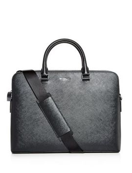 Harrison Crossgrain Leather Briefcase by Michael Kors