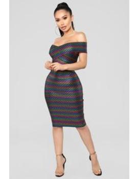 Ellen Bandage Dress   Multi by Fashion Nova