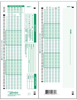 Apperson 20260 882 E Compatible Answer Sheet 50 Pack by Apperson