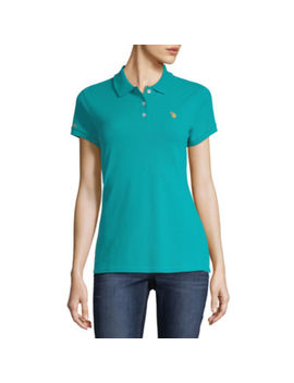 U.S. Polo Assn. Short Sleeve Knit Polo Shirt   Juniors by Uspa