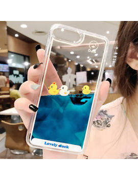 For I Phone X 8 7 6 S 6 Plus Floating Duck Blue Liquid Water Clear Hard Back Case by Unbranded/Generic