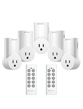 Etekcity Upgraded Version Wireless Remote Control Plug Electrical Outlet Switch Wireless Remote Light Switch Compatible With Classic Version White 5 Lx S by Etekcity