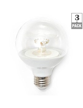 60 W Equivalent Soft White G25 Dimmable Clear Led Light Bulb (3 Pack)1001696050 by Eco Smart