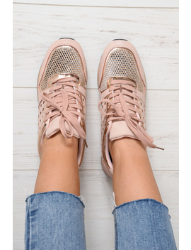 Pink Sparkle Cut Out Trainers   Capri by Rebellious Fashion