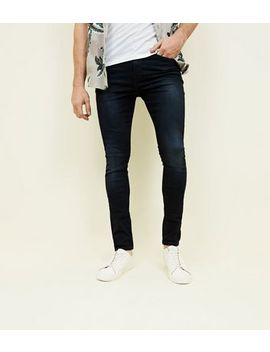 Navy Washed Skinny Jeans by New Look