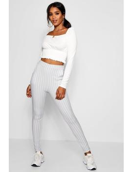 Faith Stripe Skinny Crepe Pocket Trouser by Boohoo