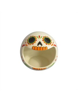 6.5'' Day Of The Dead Skull Candy Bowl White by Shop This Collection