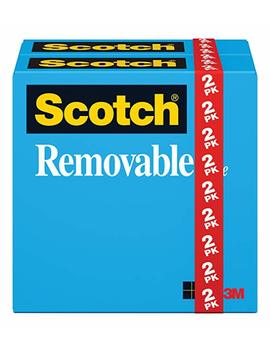 Scotch Brand Removable Tape, Engineered For Posting, Trusted Favorite, 3/4 X 1296 Inches, 2 Pack (811) by Scotch