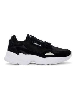 Black & White Falcon 90s Sneakers by Adidas Originals