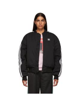 Black Bomber Jacket by Adidas Originals