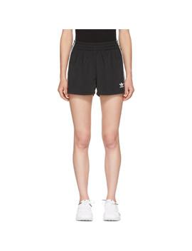 Black 3 Stripes Shorts by Adidas Originals