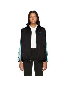 Black Adi Break Track Jacket by Adidas Originals