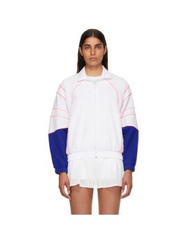 White Eqt Track Jacket by Adidas Originals