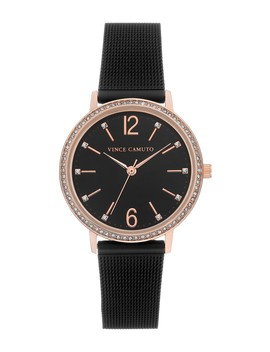 Women's Black Mesh Bracelet Watch, 34mm by Vince Camuto