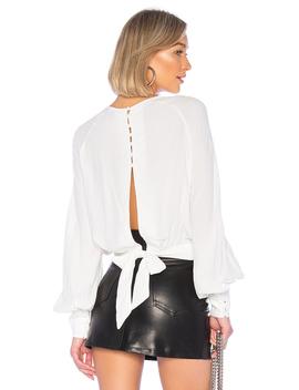 Tie Back Blouse by Bardot