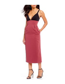Color Blocked Sheath Midi Dress by Jill Jill Stuart