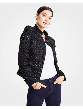 Tweed Military Jacket by Ann Taylor