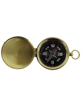 Brass Hiking Compass   Pocket Compasses   Camping Scout by Red Sky Trader