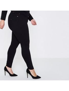 Plus Black Skinny Molly Jeggings by River Island