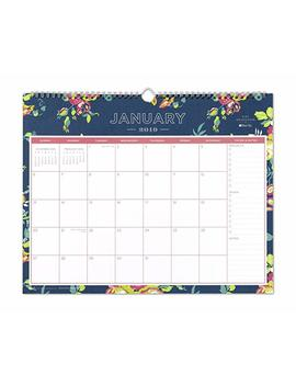 """Day Designer For Blue Sky 2019 Monthly Wall Calendar, Twin Wire Binding, 15"""" X 12"""", Peyton Navy by Blue Sky"""