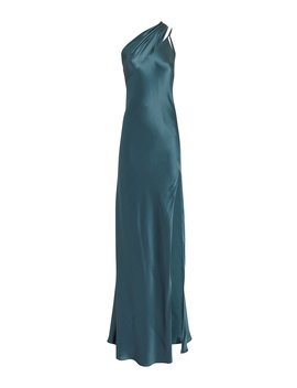 One Shoulder Blue Gown by Michelle Mason