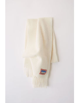 Fringed Scarf Champagne Beige by Acne Studios