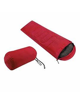 Soberbar Single Sleeping Bag Large Camping Sleeping Bag Warm Soft Adult Waterproof Hiking Lazy Bag Sleeping Beach Bed (Red) by Soberbar