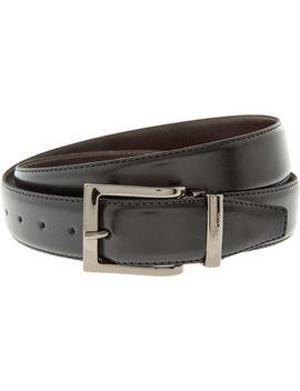 Black & Brown Reversible Leather Belt by Calvin Klein