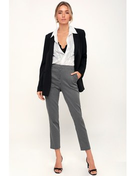 Work The Room Black And White Plaid Ruffle Pants by Lulus