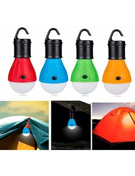 Blue Sunshine 4 Pcs Led Tent Lamp Camping Light Portable Led Lantern Emergency Light Bulb Battery Operated 3 Mode Night Light For Backpacking Hiking Fishing Shed Playhouse Indoor Outdoor Activities by Blue Sunshine