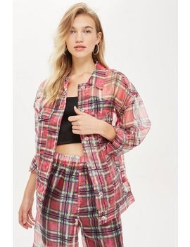 Check Organza Jacket by Topshop