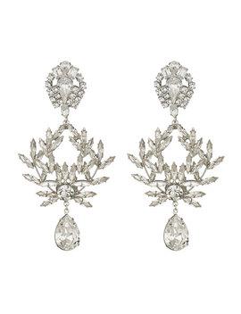 Clover Crystal Clip On Earrings by Dannijo