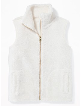Sherpa Zip Front Vest For Girls by Old Navy