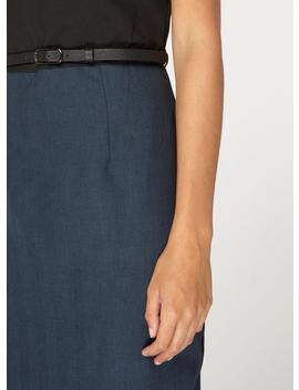 **Tall Navy And Black Belted Pencil Dress by Dorothy Perkins