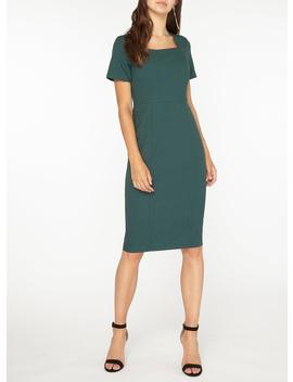 **Tall Green Square Neck Panelled Pencil Dress by Dorothy Perkins