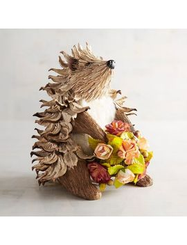 Harley The Natural Hedgehog With Bouquet by Grateful Harvest Collection