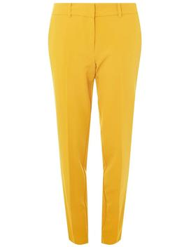 **Tall Ochre Ankle Grazer Trousers by Dorothy Perkins
