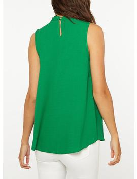 **Tall Green 'hannah' Twisted Sleeveless Top by Dorothy Perkins